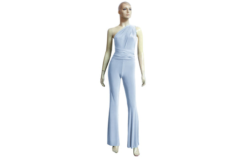 Infinity Jumpsuit Baby Blue Bridesmaid Overall Multiway Pantsuit Plus Size Flare Pants Jumpsuit