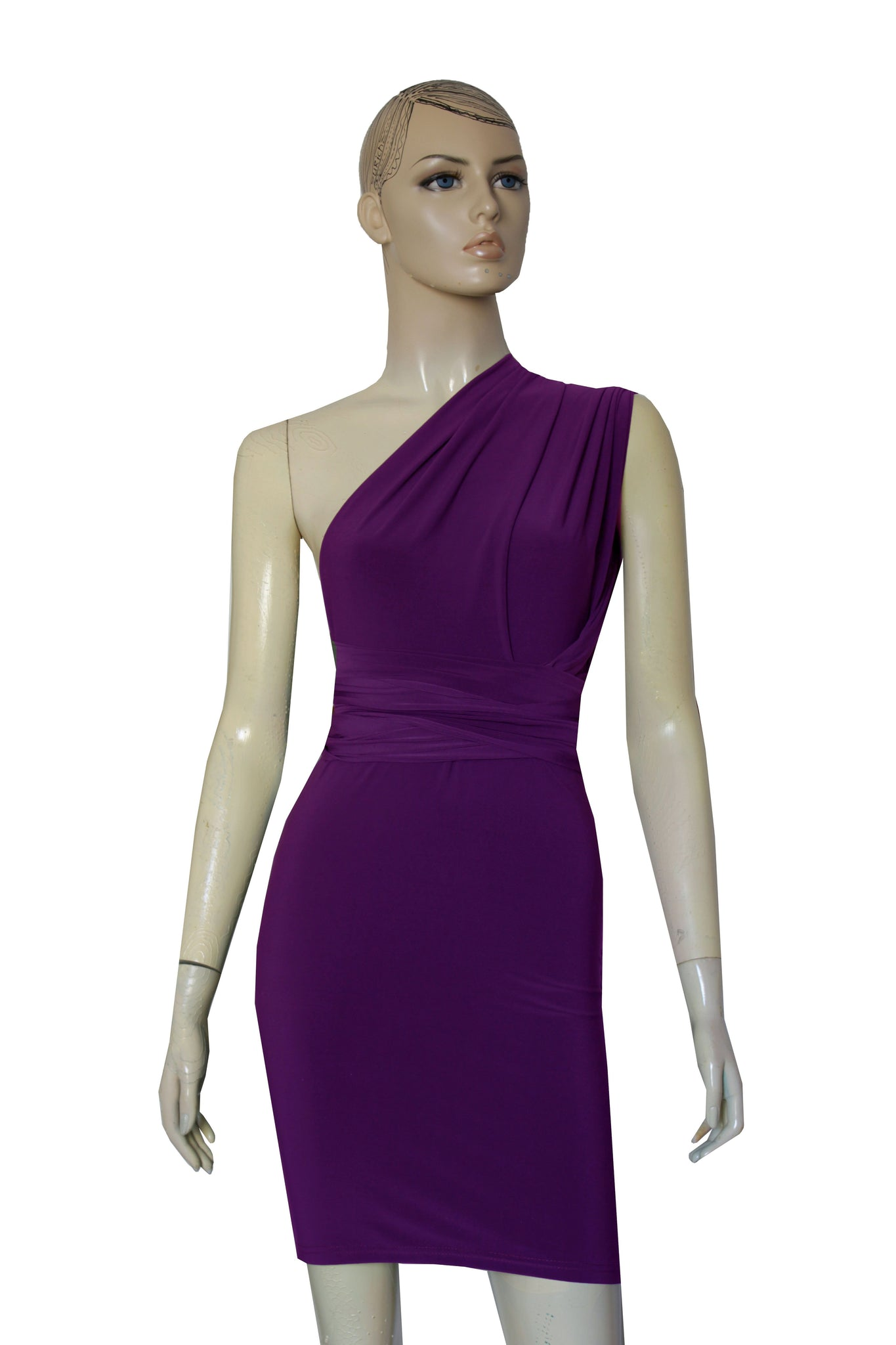 Plum Bridesmaids Dress Pencil Multi Way Dress Bridesmaids Convertible Gown Sexy Plus Size Outfit