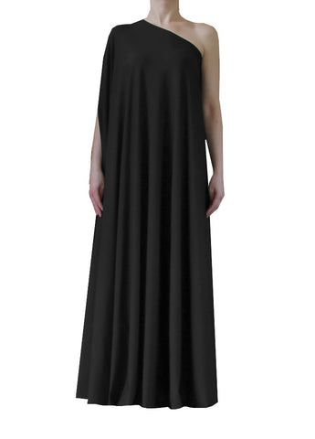 Dark grey one shoulder dress Long formal gown Charcoal sexy prom dress XS-5XL