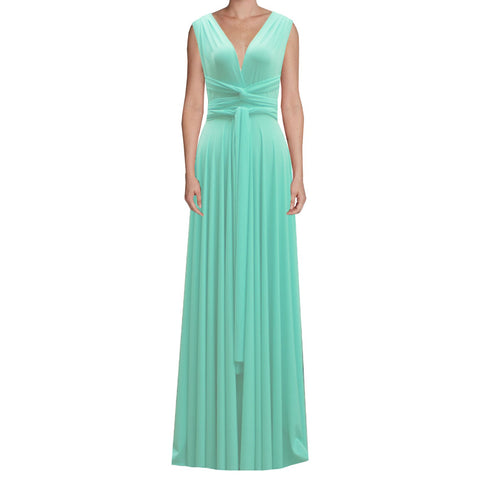 Long infinity bridesmaid dress Spearmint green convertible gown for prom, evening or formal occasions XS-5XL