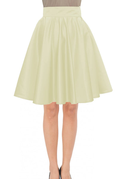 Knee Length Skirt Champagne Duchess Skirt Prom Formal Evening Party Skirt
