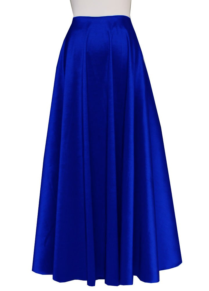 Royal Blue taffeta skirt in maxi length for wedding formal or evening occasions XS-3XL