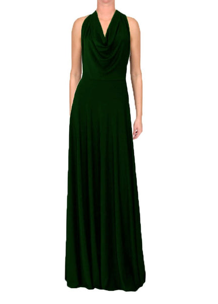 Backless maxi dress Dark green evening or formal long gown