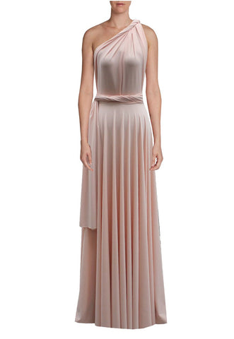 Long infinity bridesmaid dress Peach convertible gown for prom, evening or formal occasions XS-5XL