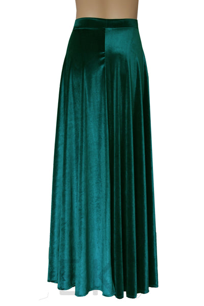 Dark green velvet skirt Maxi aline skirt Plus size formal skirt Long prom skirt XS-5XL