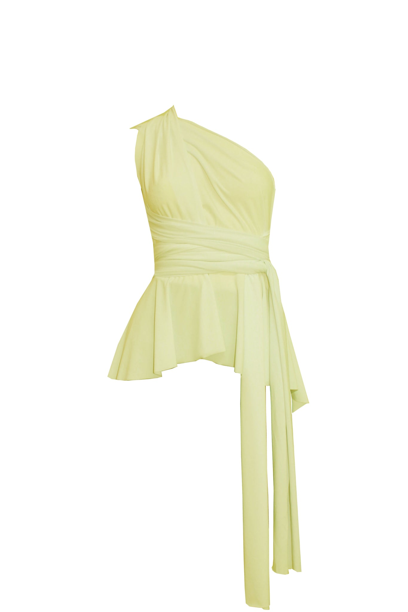 Infinity shirt Convertible light yellow peplum top Bridesmaids high low blouse Octopus prom top XS-5XL