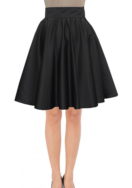 Knee Length Skirt Black Duchess Skirt Prom Formal Evening Party Skirt