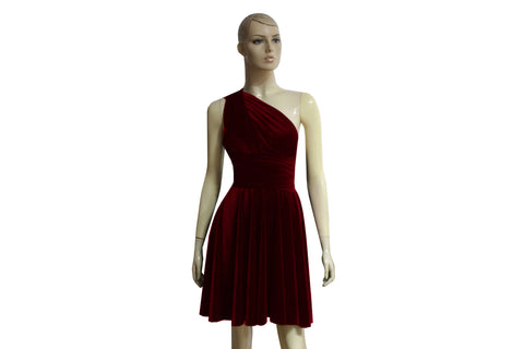 Infinity velvet dress Wine bridesmaids dress Short multi way dress Convertible plus size prom gown Formal dress XS-5XL