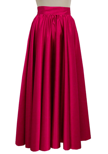 Duchess long skirt Red formal evening maxi skirt Prom Bridesmaid skirt