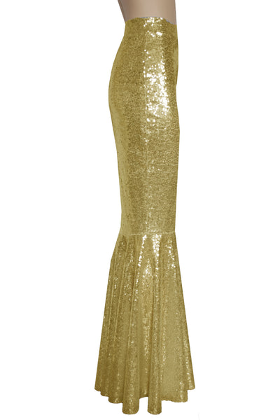 Sequin Mermaid Skirt Gold Bridesmaids Skirt Fishtail Plus Size Metallic Bottoms Long Bridal Separates Prom Formal Skirt XS-5XL
