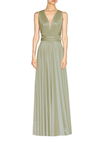 Long infinity bridesmaid dress Gold champagne convertible gown for prom, evening or formal occasions XS-5XL