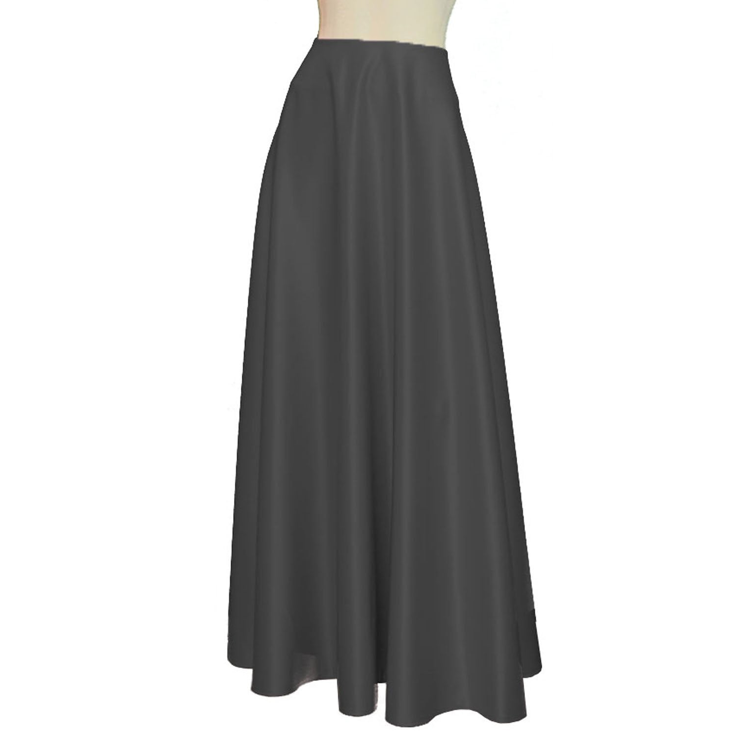 Maxi formal skirt Bridesmaid wedding long skirt Dark grey duchess floor length skirt
