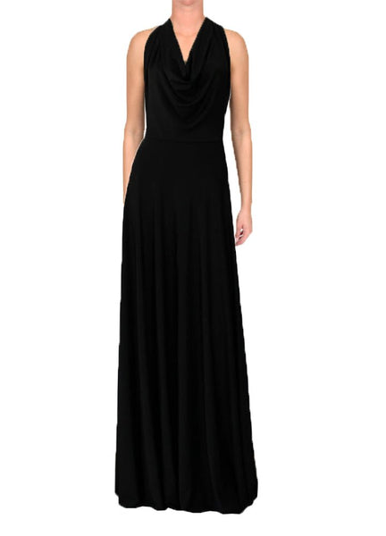 Open back maxi dress Black evening or formal long gown