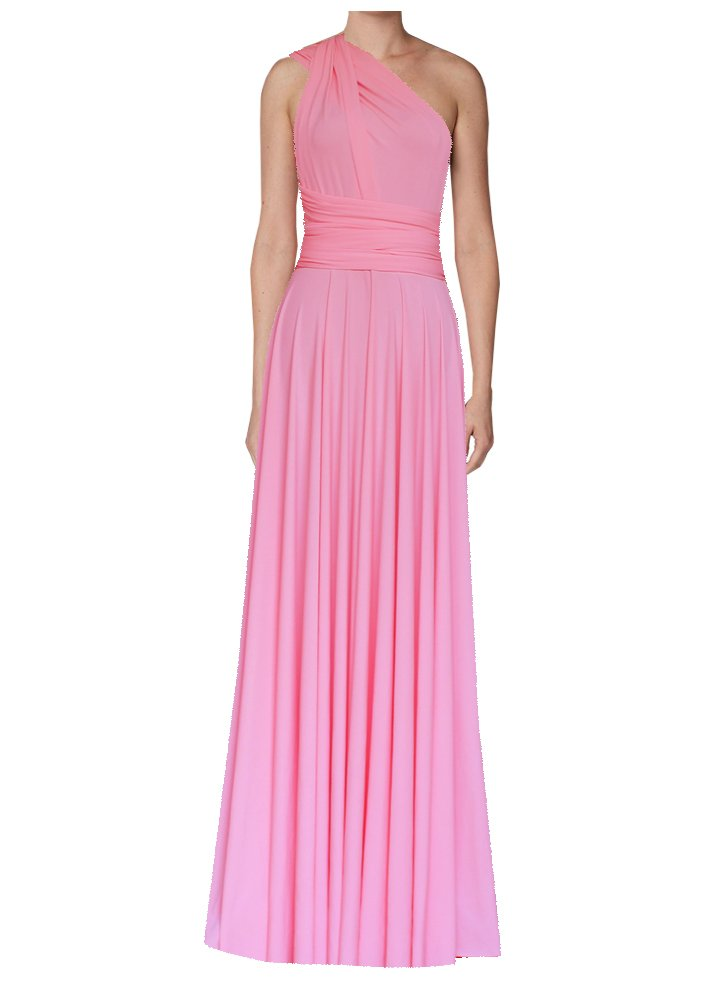 Long infinity bridesmaid dress Pink convertible gown for prom, evening or formal occasions XS-5XL