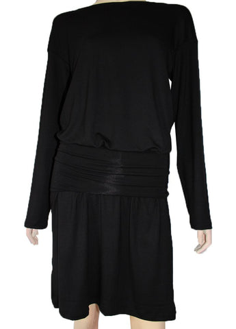 Black jersey dress Long sleeved 5 in 1 casual short dress