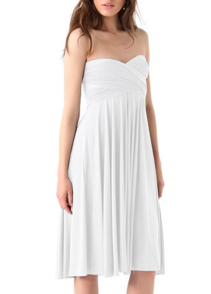 Short wedding dress White convertible bridesmaid dress Prom infinity plus size dress XS S M L XL 1XL 2XL 3XL 4XL 5XL