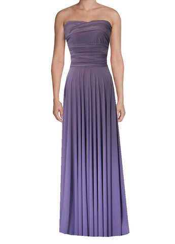 Long infinity bridesmaid dress Dusty violet convertible gown for prom, evening or formal occasions XS-5XL