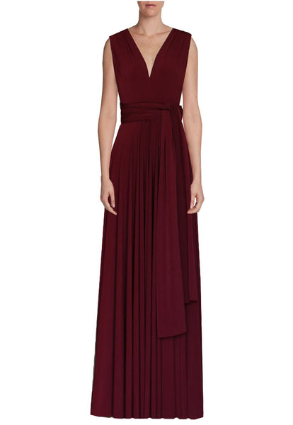 Long infinity bridesmaid dress Wine convertible gown for prom, evening or formal occasions XS-5XL