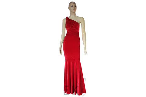 Mermaid dress Red velvet gown Infinity bridesmaid dress Multi way mix & match dress Convertible plus size dress Prom fish tail gown XS-5XL