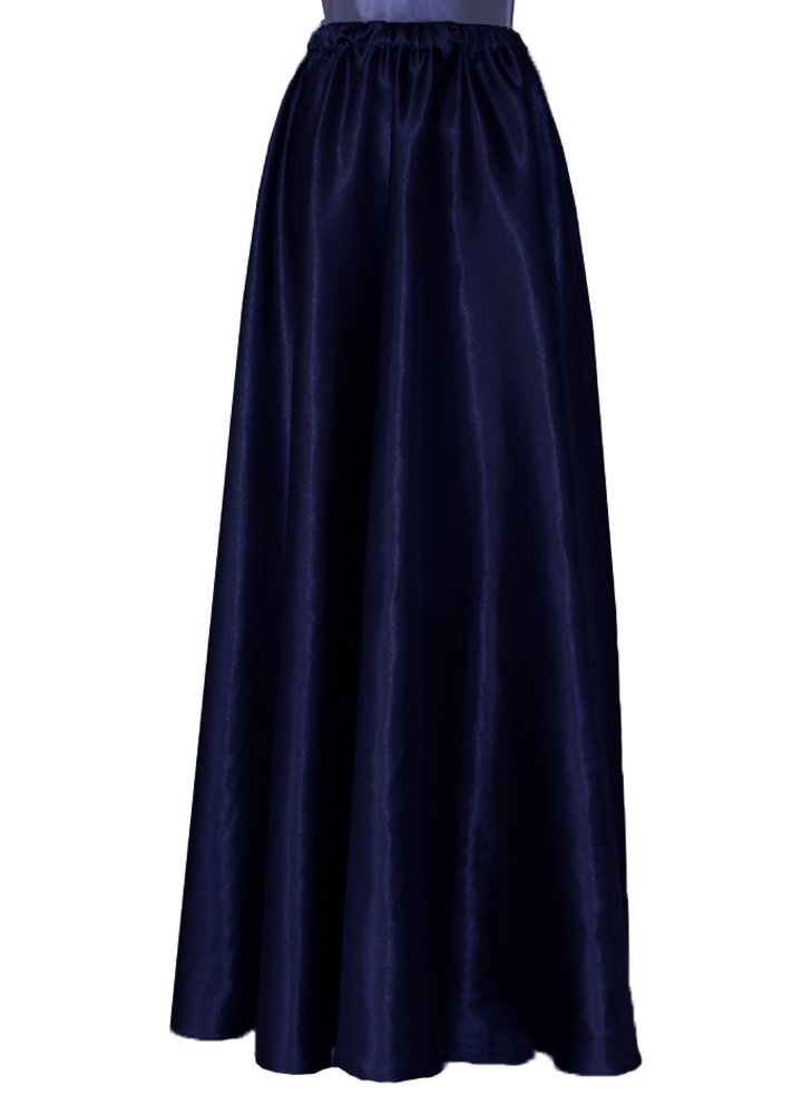 Long satin skirt Navy blue formal & evening maxi skirt XS-L