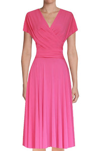 Infinity bridesmaids dress Hot pink convertible wrap dress Short plus size prom evening formal dress XS S M L XL 0XL 1XL 2XL 3XL 4XL 5XL