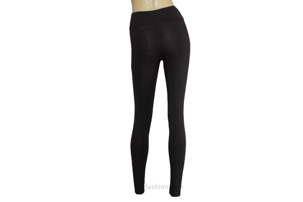 Yoga leggings Black jersey tights Plus size high waist pants Comfy activewear Ballet leggings