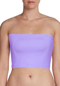 Lavender Bandeau Bra Tube Top for Twist Wrap Dress XS-5XL