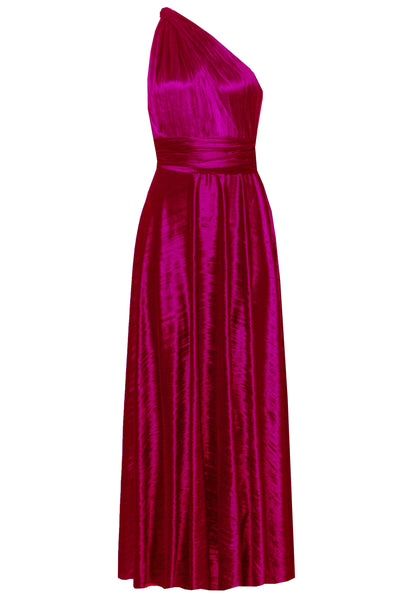 Infinity Dress Crushed Velvet Maxi Gown Bridesmaids Hot Pink Dress Multiway Prom Dress Convertible Dress Multi Way Plus Size Outfit Maternity Evening Fashion XS-5XL