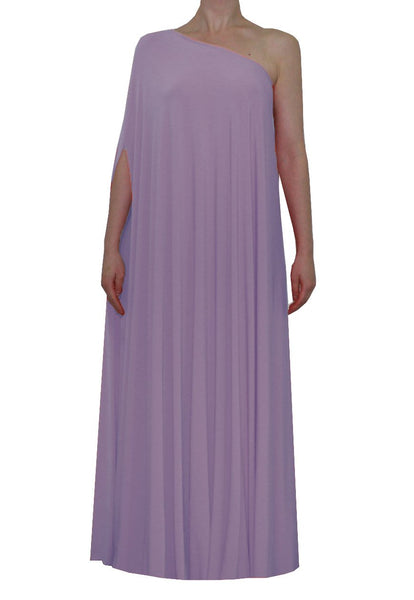 Dusty violet one shoulder dress Long formal gown Sexy prom dress XS-5XL