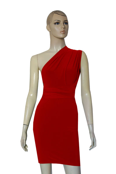 Red Pencil Dress Infinity Short Bodycon Bridesmaid Convertible Dress Multiway Plus Size Prom Gown