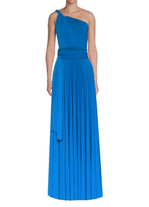 Long infinity bridesmaid dress Azure blue convertible gown for prom, evening or formal occasions XS-5XL