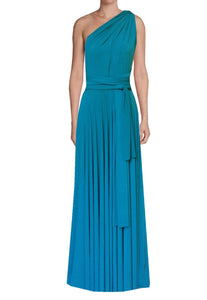 Long convertible bridesmaid dress Teal infinity gown for prom, evening or formal occasions XS-5XL