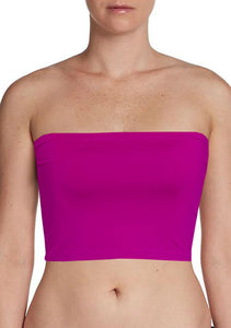 Fuchsia Bandeau Bra Tube Top for Twist Wrap Dress XS-5XL