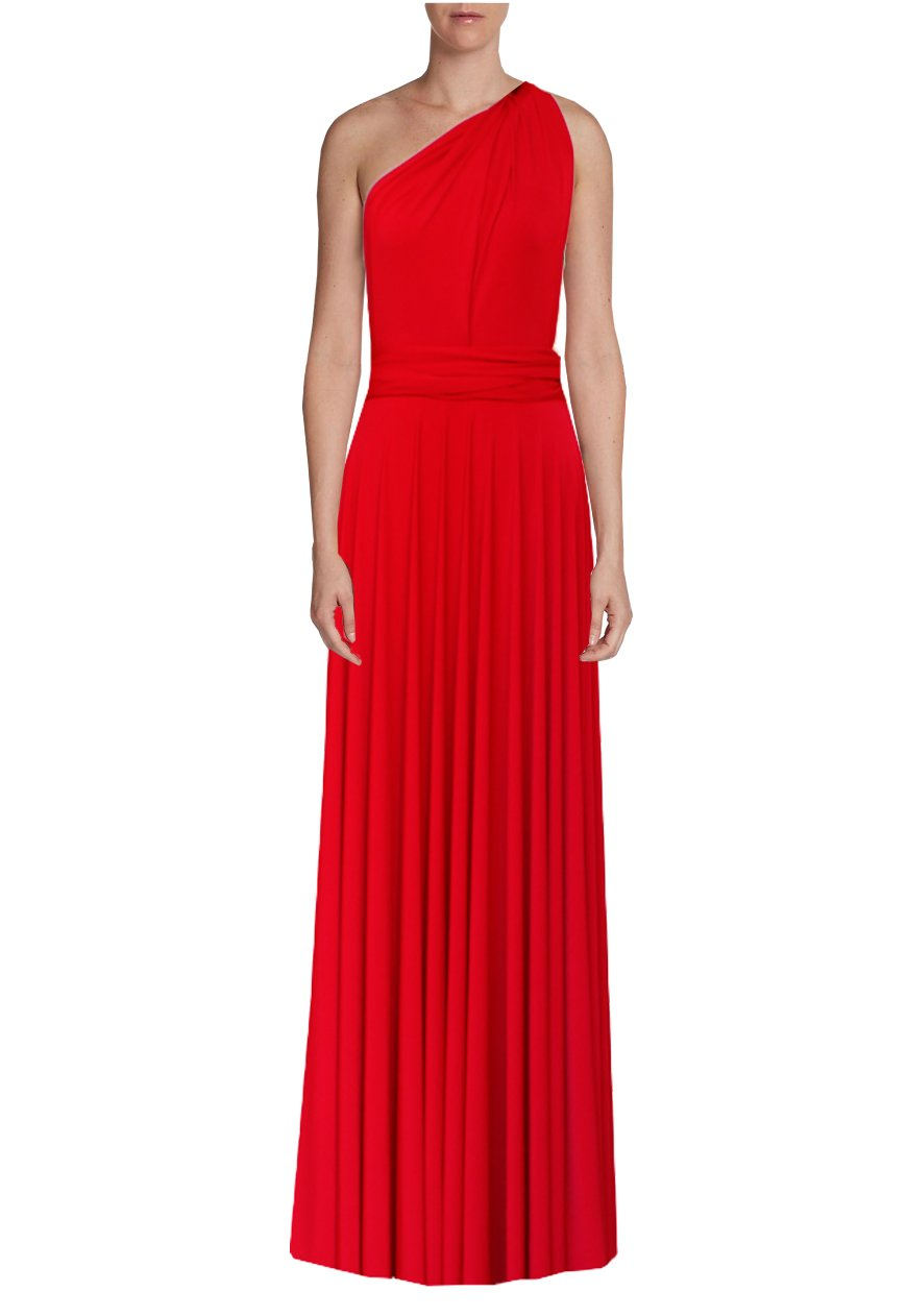 15161d77d5f05 Long convertible dress Red infinity gown for prom, bridesmaids or even –  EK-fashion.com