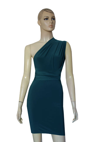 Teal Bridesmaids Dress Pencil Multi Way Dress Bridesmaids Convertible Gown Sexy Plus Size Outfit