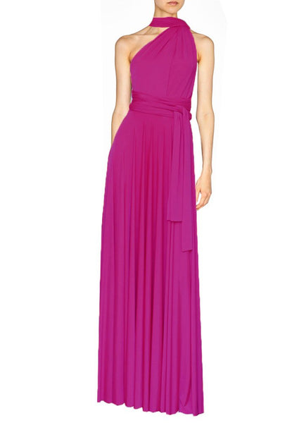 Long infinity bridesmaid dress Fuchsia convertible gown for prom, evening or formal occasions XS-5XL