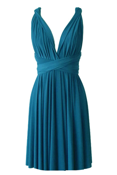 Convertible bridesmaid dress Teal infinity plus size dress Prom evening formal twist wrap dress XS S M L XL 0XL 1XL 2XL 3XL 4XL 5XL