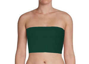 Dark Green Bandeau Tube Top for Twist Wrap Dress XS-5XL
