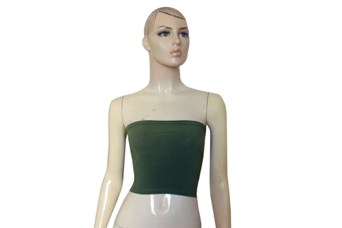 Olive Green Bandeau Strapless Tube Top for Infinity Dress XS-5XL