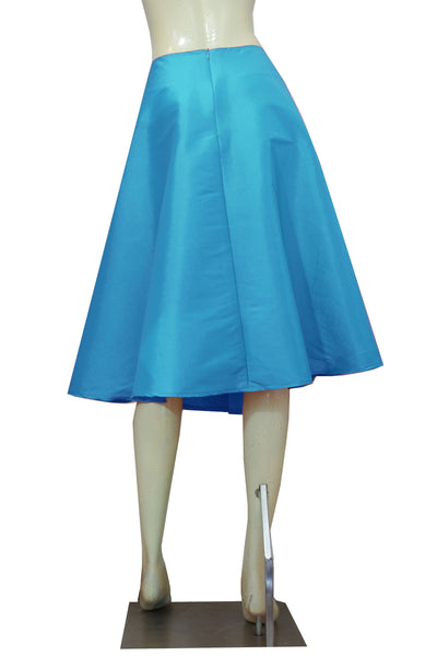 Aqua blue taffeta skirt in tea length for bridesmaids prom formal or evening occasions XS-4XL