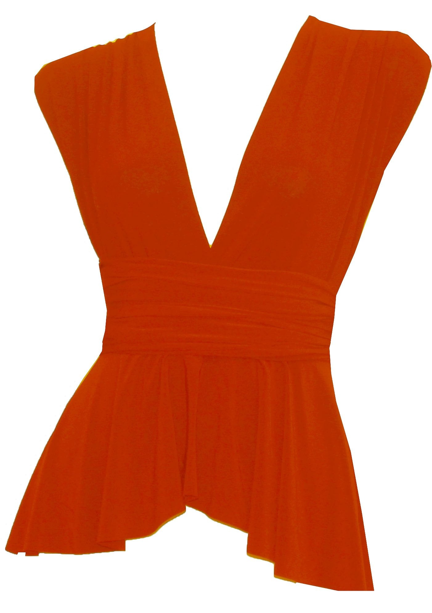 Convertible wrap shirt Bridesmaids peplum Orange infinity high low blouse Octopus prom top XS-5XL