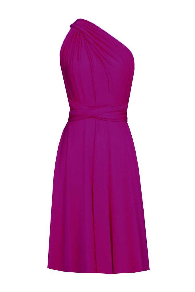 d72fce05a23 ... Short infinity bridesmaid dress Fuchsia convertible gown for prom  evening   formal occasions XS-5XL