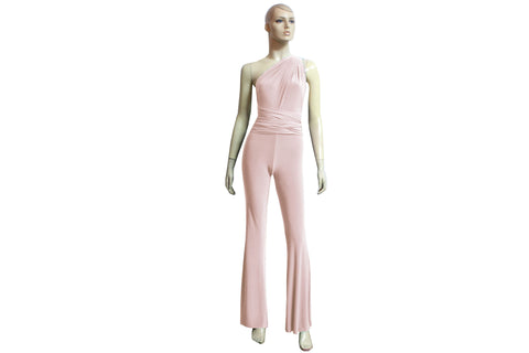 Multi Way Jumpsuit Peach Bridesmaid Overall Infinity Convertible Playsuit Plus Size Prom Outfit Formal Flare Pants Jumpsuit XS-4XL