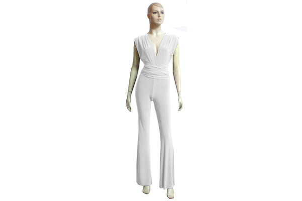 Wedding Convertible Jumpsuit White Infinity Overall Bridal Multi Way Playsuit Plus Size Prom Outfit Formal Flare Pants Jumpsuit XS-4XL