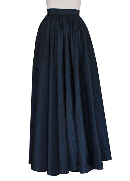 Black taffeta skirt Floor length full cirle skirt for formal or evening occasions XS-3XL