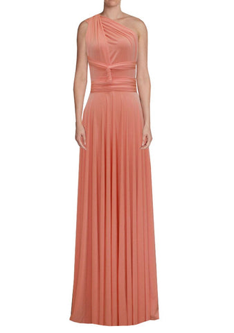 Long infinity bridesmaid dress Apricot convertible gown for prom, evening or formal occasions XS-5XL