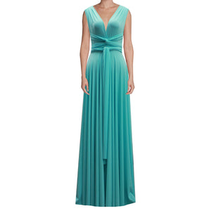Long infinity bridesmaid dress Tiffany blue convertible gown for prom, evening or formal occasions XS-5XL