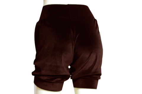Velvet shorts Brown bloomers Ballet shorts Rave festival bottoms