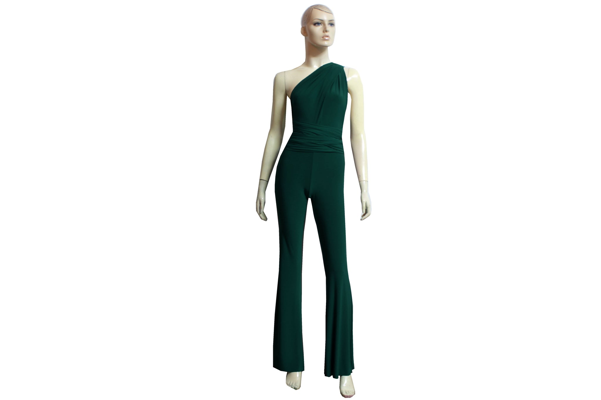 Dark Green Jumpsuit Infinity Romper Bridesmaid Convertible Overall Playsuit Plus Size Prom Outfit Formal Flare Pants Jumpsuit XS-4XL