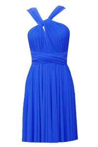 Convertible bridesmaid dress Royal blue infinity plus size dress Prom evening formal twist wrap dress XS S M L XL 0XL 1XL 2XL 3XL 4XL 5XL